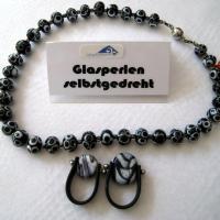012 schmuck b glas halskette ring