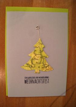 091 karte weihnacht baum b