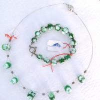 Halskette armband grun schmuck 002 b