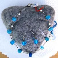 Terrasse 016 halskette ohranhanger blau b
